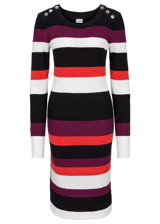 Pásikované pletené šaty Pekné • 22.99 € • bonprix