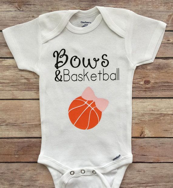 b85c038a79de Bows   Basketball Onesie