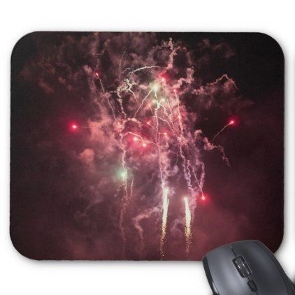Pink Fireworks Display Photography Mouse Pad - photography gifts diy custom unique special