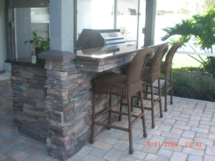 Awesome Outdoor Bar with Granite top