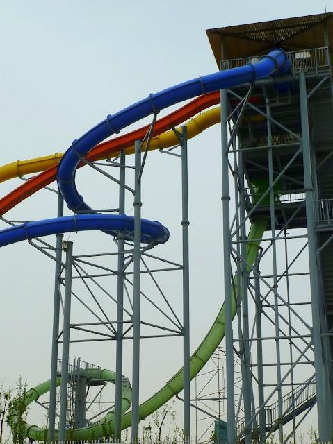 Cool water slide with a loop!