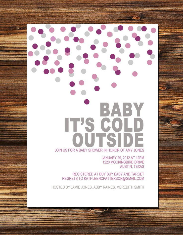 Baby Its Cold Outside Baby Shower Invitation (Digital File). $15.00, via Etsy.