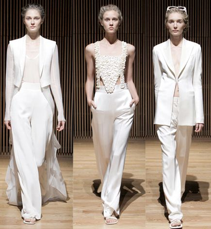 23 best images about for the bride pant suits on for Lesbian wedding dresses and suits