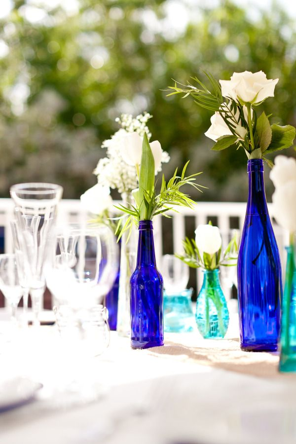 cobalt blue and aqua wedding colors - Rachel & Clint