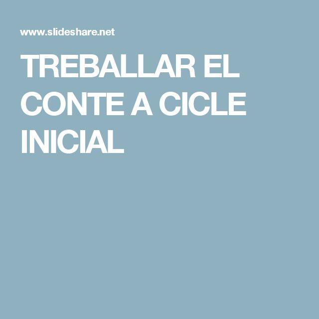 TREBALLAR EL CONTE A CICLE INICIAL