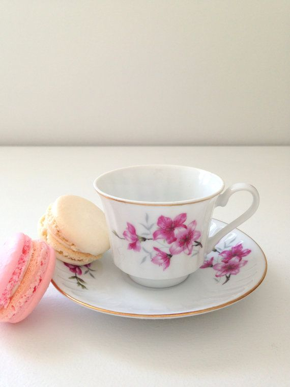 Vintage Classic Floral Demitasse Tea Cup and by MariasFarmhouse, $15.00