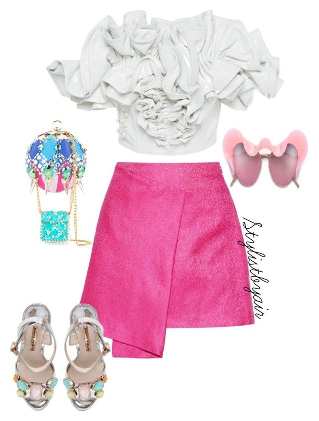 """""""Untitled #7438"""" by stylistbyair ❤ liked on Polyvore featuring Rodarte, Maiyet, Manish Arora and Sophia Webster"""