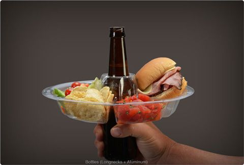 The GoPlate Wraps Around Your Beer