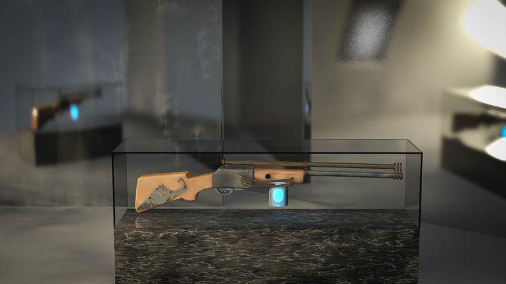 #3D #steampunk #rifle