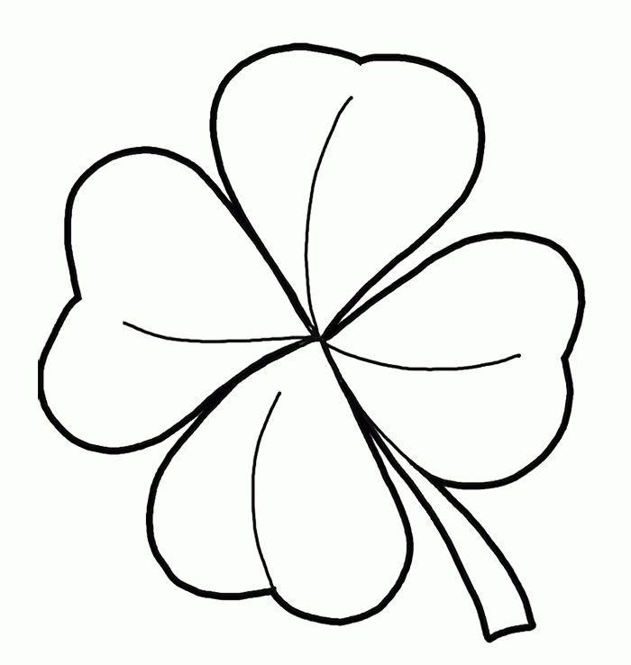 St Patrick S Day Crafts For Kids Leaf Coloring Page Four Leaf