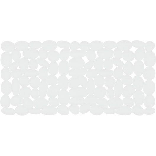 Tapis antidérapant Marathon, blanc, L.75 x l.36 cm