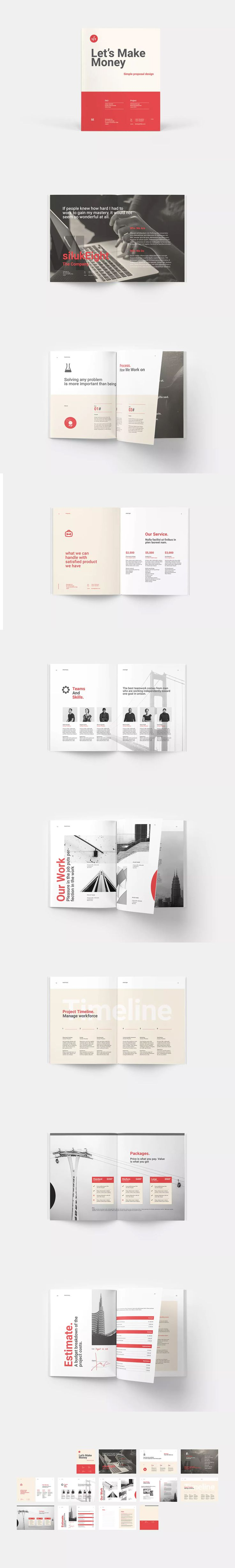 Business Proposal Template InDesign INDD A4