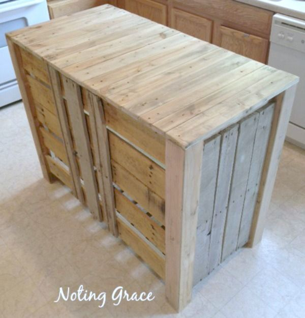 Kitchen Island Out Of Pallets: 1000+ Ideas About Pallet Island On Pinterest