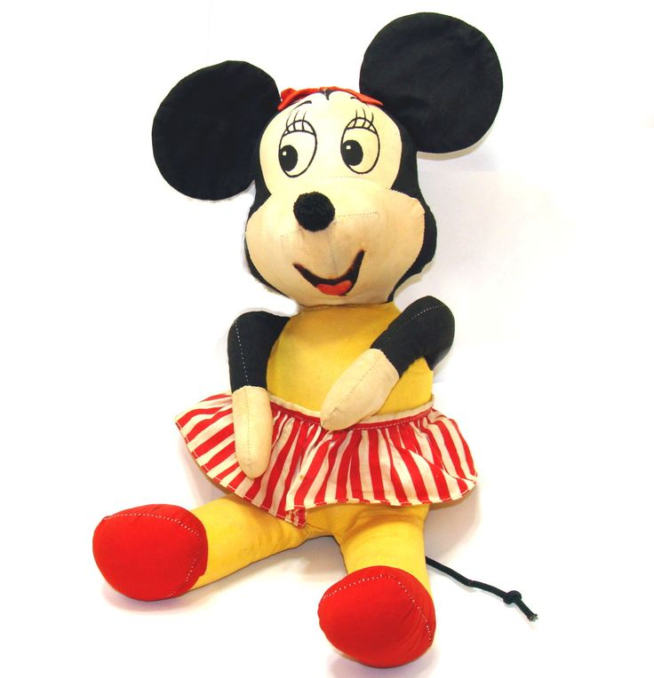 Old Minnie Mouse doll-Old Walt Disney-Vintage Mickey mouse-Large mickey mouse toy-Vintage minnie mouse-Big minnie mouse figurine-Old disney by BECKSRELICS on Etsy