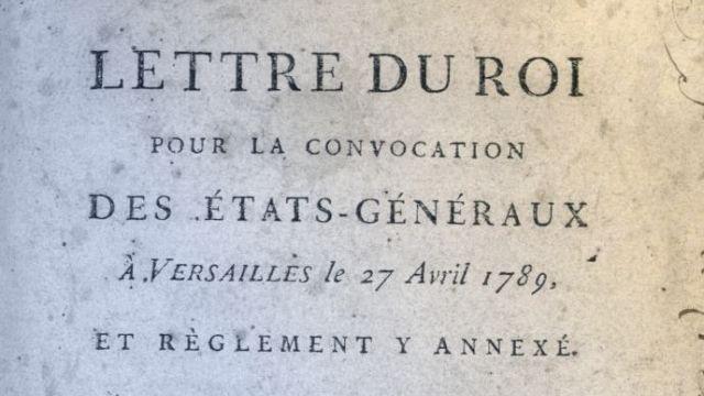 24 Janvier 1789 Convocation Des Etats Generaux Par Louis Xvi Pour Le 27 Avril Suivant Adressee A Tous Les Gouverneurs Des Provi 27 Avril Generale Gouverneur