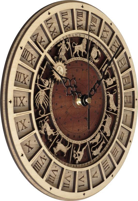 Reloj Venecia Reloj Venezia En Madera Reloj Astronomico Produccion Limitada Envio Incluido Envio Gratuito Wooden Clock Clock Wood Clocks