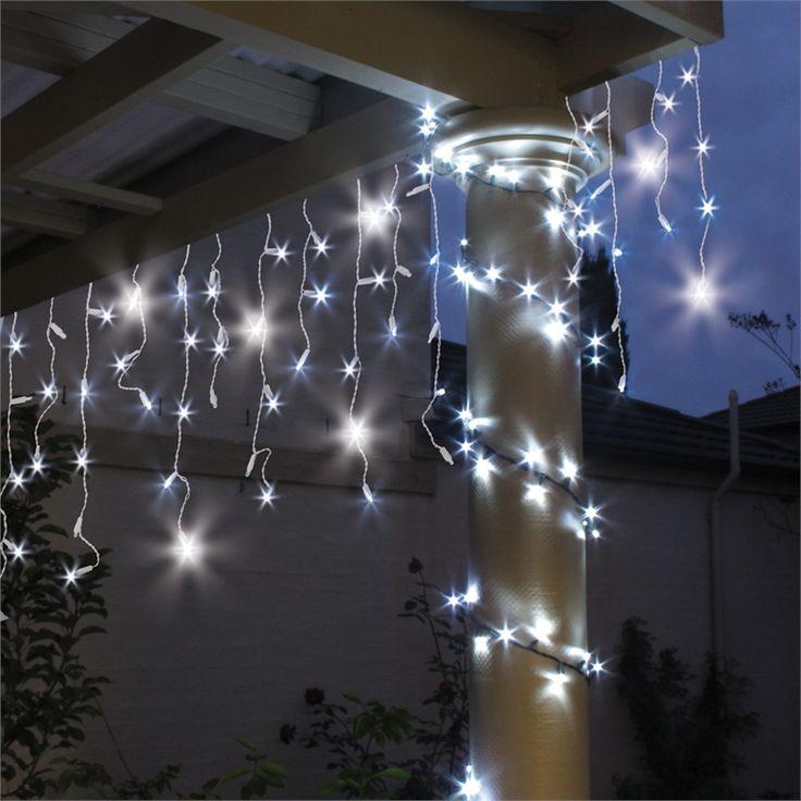 Lytworx 600 LED White 8 Function Festive Icicle Lights