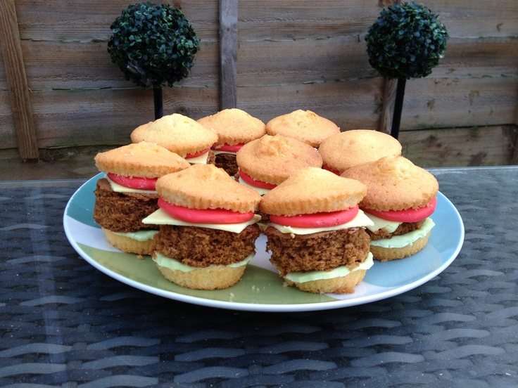 Burger Cupcakes for BBQ