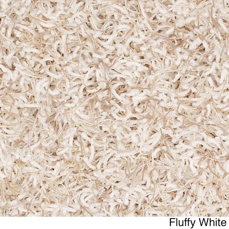 """Shaw Bling Collection Super Shag Oversized Area Rug (12' Round) (Z6809-121 Fluffy White), Beige, Size 11'9"""" x 11'9"""" (Nylon, Solid)"""