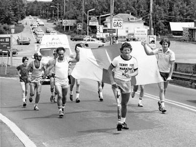 Canada's Terry Fox, cancer research activist who engaged on a cross-country marathon to spread awareness after having one leg amputated in 1980. Absolutely inspirational!!