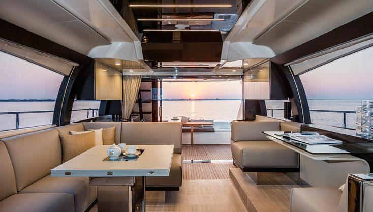 This 55-Foot Italian Cruiser Feels Like a Superyacht. #Luxury #Yachts