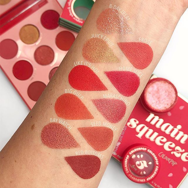 Main Squeeze 🍉 Swatches of the NEW goodies @colourpopcosmetics ...