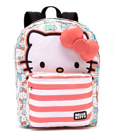 Love this Blue & Pink Hello Kitty Stripe Backpack on #zulily! #zulilyfinds