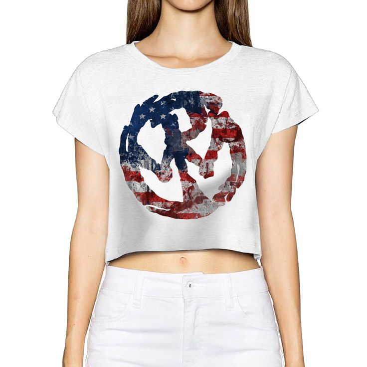 2017 Pennywise Band Logo Women New 3D Print Summer Fashion Crop Tops Street t shirt Bare Midriff Sexy T-Shirt #Affiliate