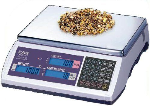 CAS EC-60 Counting Scale 60 lbs by CAS. $346.50. 100 unit weight memory function w/ preset tare. Energy conservation w/ auto power off function. Rechargeable battery 80 hours. RS-232 interface, Blue backlight LCD display. Soft touch tact keyboard. Designed with CAS reliability, the EC Series Counting Scale stands alone in its field. High accuracy, battery operated(AC adapter included), and simple to use. With the optional label and receipt printers, the EC Series...