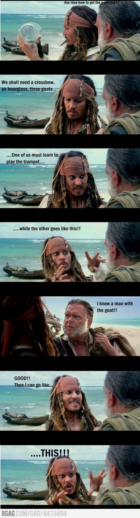 Just Jack Sparrow.... @florencia Silveira this reminded me of you when you get hyper or you do a trick or try to make me laugh, you always do this to my face! Hahaha