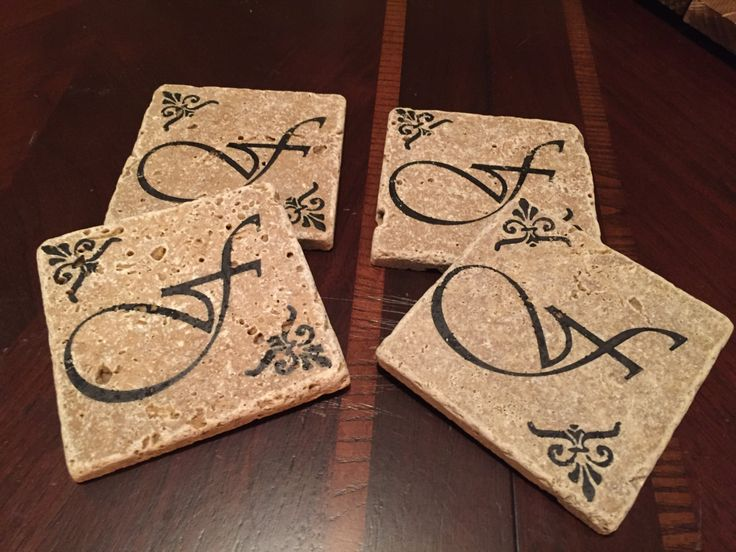 4x4 natural stone tile coasters by DiscoverYourHome on Etsy