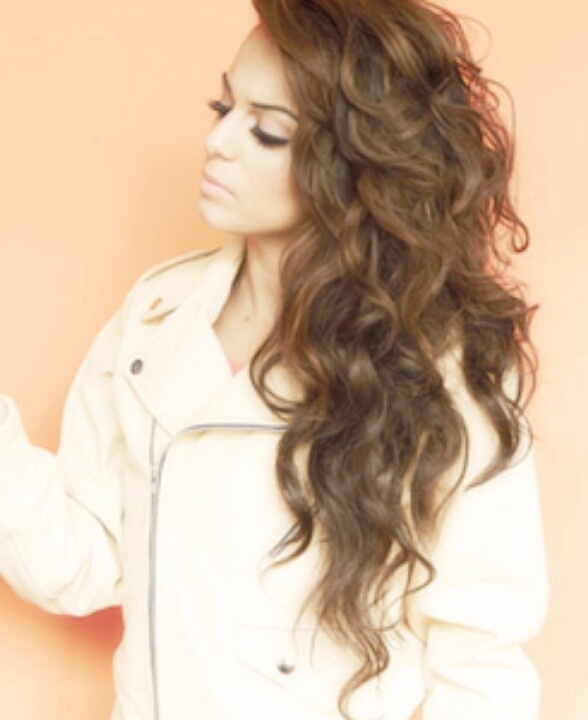cher lloyd.  NIce, perfect spiral curls.