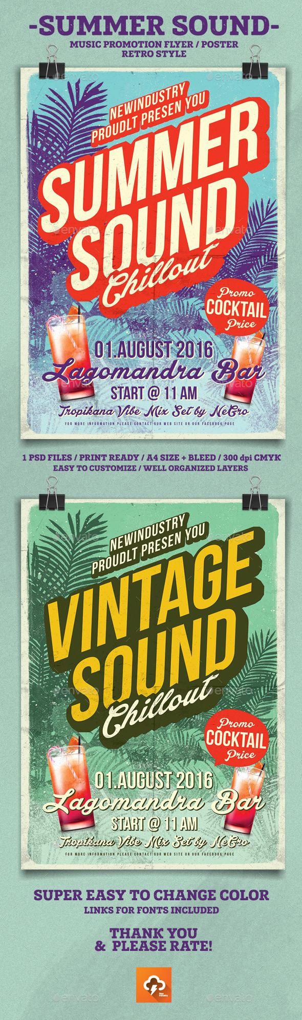Summer Sound Poster / Flyer Template PSD. Download here: https://graphicriver.net/item/summer-sound-posterflyer/17091272?ref=ksioks
