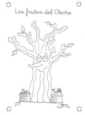 Dibujo para colorear: frutos de otoño | Dibujos para niños #kids