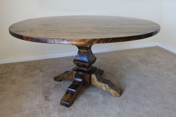 60 Round Pedestal Table by JamesAndJames on Etsy, $1200.00