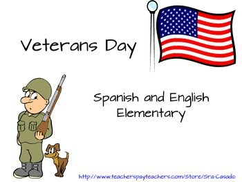 Veterans Day bundle Bilingual English/Spanish that includes story, comprehension graphics, vocabulary and text prompts.  $ #VeteransDay