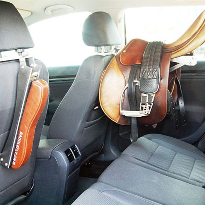 a saddle rack in your car