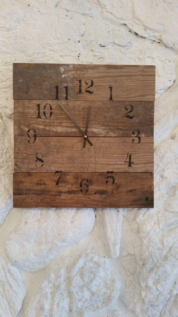 M s de 25 ideas incre bles sobre relojes de madera en - Reloj pared madera ...