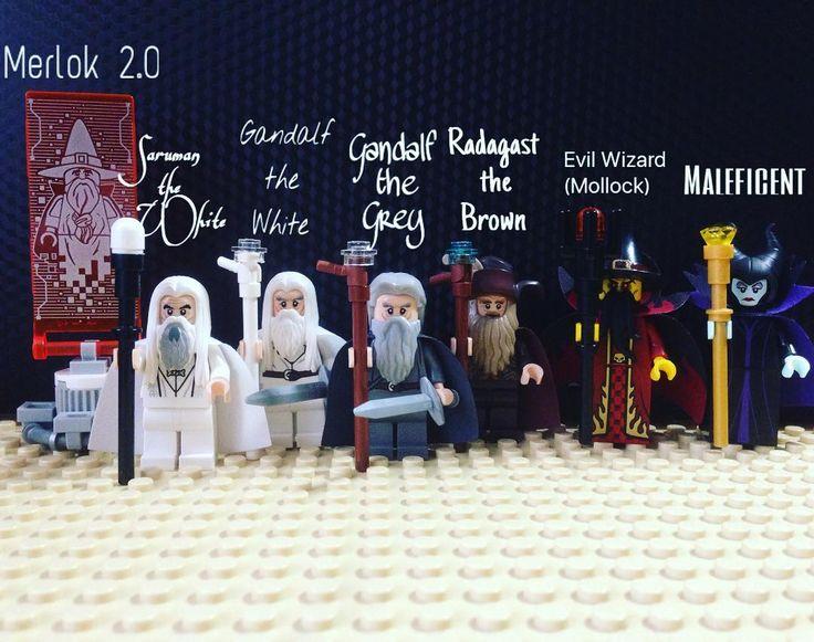 Meet my Wizards collection  #Merlok 2.0 #Saruman the White #Gandalf the White #Gandalf the Grey #Radagast the Brown Evil Wizard (Mollock) #Maleficent  #disney #lego #legos #legostagram #legomania #legorussia #nexoknights #lordoftherings #legolordoftherings #hobbit #legohobbit  #лего #легомания #легороссия #гендальф #гэндальф #саруман #радагаст #малефисента #дисней #легооригинал by sorenkastos