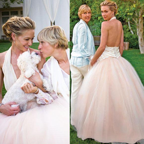 Portia De Rossi Wedding Gown: Our Favourite Celebrity Bridal Looks