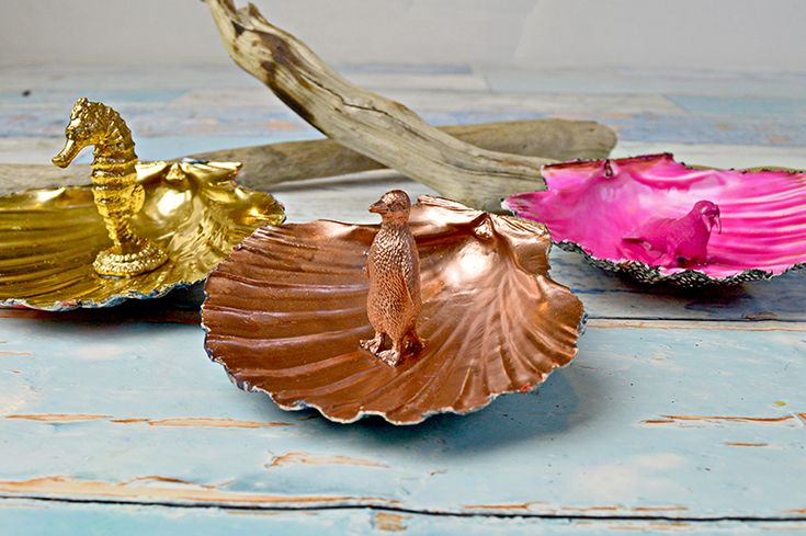 DIY Scallop Shells Trinket Dishes