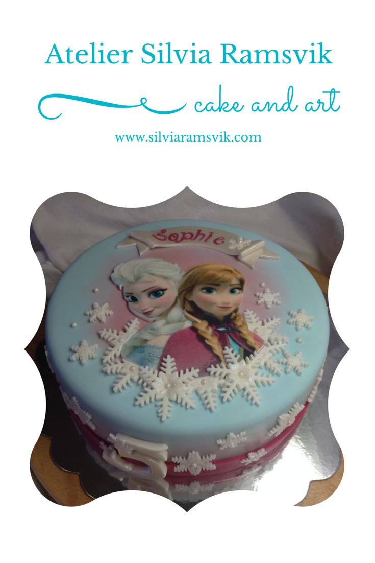 Inspired by Disney movie FROZEN - by Silvia Ramsvik www.silviaramsvik.com FROST kake