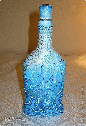 Декор предметов Декупаж Осенний сон и голубая мечта Бутылки стеклянные Коробки фото 8