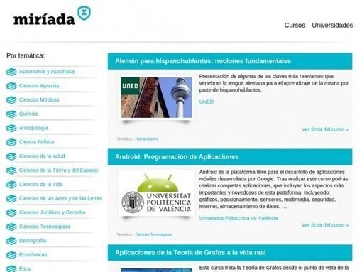 Miriadax, MOOCs en español de Universidades iberoamericanas [Cursos gratuitos Online]