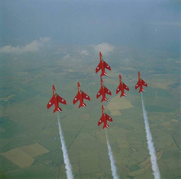 "Folland Gnats of the RAF ""Red Arrows"" 1960's"