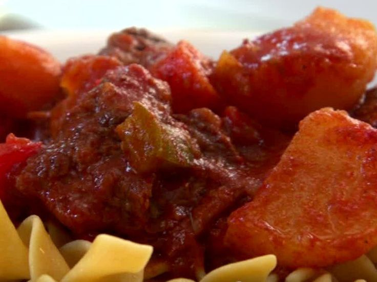Hungarian Beef Goulash Recipe : Jamie Deen : Food Network - FoodNetwork.com An interesting take on Hungarian goulash...