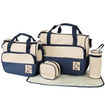 Buy 5-piece Baby Changing Diaper Nappy Bag Handbag Multifunctional Bags Set (Blue) online at Lazada. Discount prices and promotional sale on all. Free Shipping.