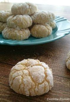 Cookies craquelados de limão com coco - Coconut Lime Crinkle Cookies