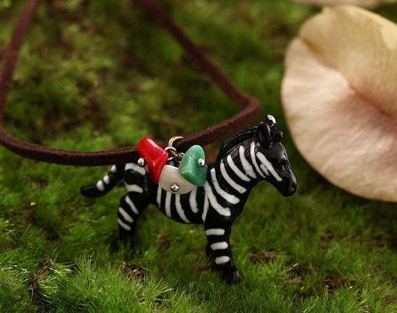 Zebra Necklace-2014 new zebra-natural stone decorate the zebra-unique necklace zebra for her from Picsity.com