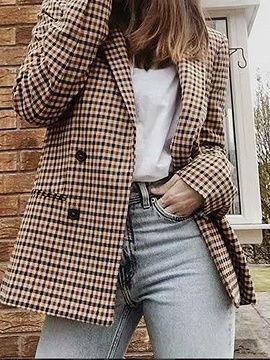 26 Ways To Matching Plaid Blazer Jacket